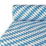 Papstar Papiertischtuch / Tischtuchrolle mit Damastprägung 'Bayerisch Blau' (1 Stück) 50 x 1 m, für Haushalt, Gastronomie oder Festlichkeiten, beliebig zuschneidbar, #12544